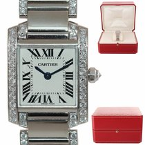 Cartier Tank Française White gold 23mm Roman numerals United States of America, New York, Huntington
