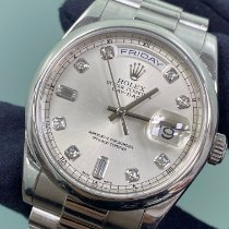 Rolex Platinum Automatic Grey 36mm pre-owned Day-Date 36
