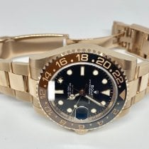 Rolex GMT-Master II Ouro rosa 40mm Preto Sem números