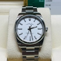 Rolex Oyster Perpetual 34 Acero 34mm Blanco