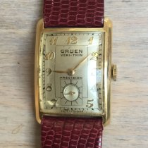 Gruen Yellow gold Manual winding pre-owned