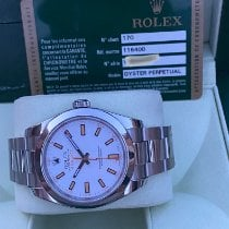 Rolex Milgauss Stål 40mm Vit Inga siffror