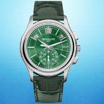 Patek Philippe Annual Calendar Chronograph Platinum 42mm Green No numerals United States of America, New York, New York