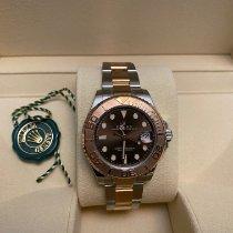 Rolex Yacht-Master 37 Gold/Steel 37mm Brown No numerals UAE, Dubai