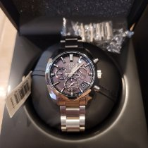 Seiko Astron GPS Solar Chronograph pre-owned 42mm Silver Steel