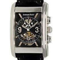 Audemars Piguet Platin Handaufzug Schwarz Arabisch 35mm gebraucht Edward Piguet