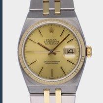 Rolex Datejust Oysterquartz tweedehands 36mm Wit Datum Goud/Staal