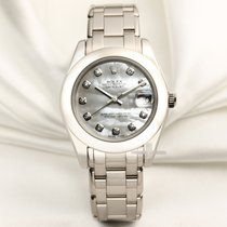 Rolex Lady-Datejust Pearlmaster Белое золото 34mm