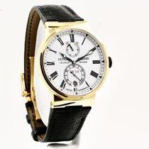 Ulysse Nardin Marine Chronometer Manufacture Pозовое золото 45mm Белый Римские