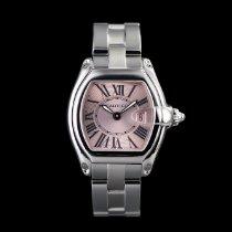 Cartier Roadster Сталь 31mm Розовый Римские