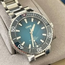 Oris Steel Automatic Blue 39.5mm pre-owned Aquis Date