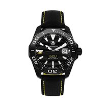 TAG Heuer Aquaracer 300M pre-owned 41mm Black Date Textile