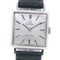 Omega White gold Manual winding Silver 28mm pre-owned Genève
