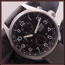 Oris Big Crown ProPilot Chronograph GMT Steel 44mm Black Arabic numerals