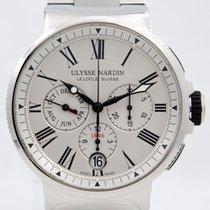 Ulysse Nardin Marine Chronograph Stahl 43mm Weiß
