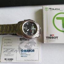 Tissot T-Touch Expert gebraucht 43mm Schwarz Chronograph Datum Ewiger Kalender Wecker Titan