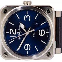 Bell & Ross BR 03-92 Steel Acero 42,00mm Azul Arábigos