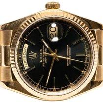 Rolex Gelbgold Automatik Schwarz Keine Ziffern 36,00mm gebraucht Day-Date 36