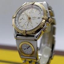 Breitling Chronomat Or/Acier 39mm Blanc Sans chiffres