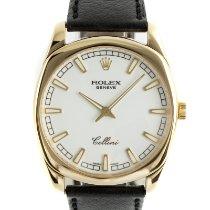 Rolex Cellini Danaos Желтое золото 38mm Белый