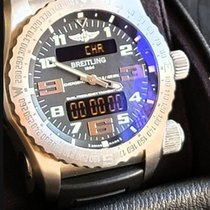 Breitling Emergency pre-owned 50mm Date Weekday Month Year Alarm GMT Rubber