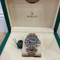 Rolex GMT-Master II Or/Acier 40mm Noir Sans chiffres France, nice