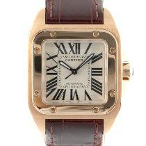 Cartier Santos 100 Желтое золото 33mm