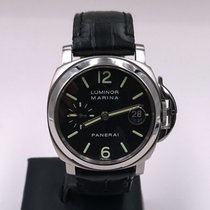 Panerai Luminor Marina Automatic tweedehands 40mm Zwart Datum Leer