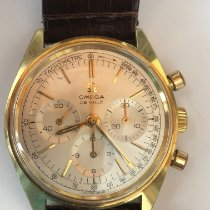 Omega De Ville pre-owned 36mm Silver Chronograph Leather