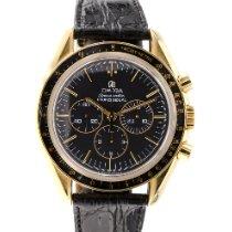 Omega Oro amarillo Cuerda manual Negro 42mm usados Speedmaster Professional Moonwatch