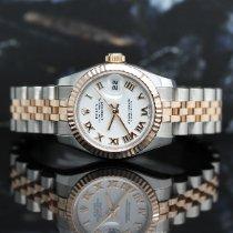 Rolex Pозовое золото Автоподзавод Белый Римские 26mm подержанные Lady-Datejust