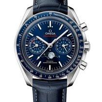 Omega Speedmaster Professional Moonwatch Moonphase Сталь Синий Без цифр