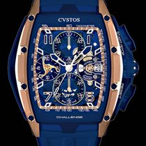 Cvstos new Automatic 53.7mm Rose gold Sapphire crystal