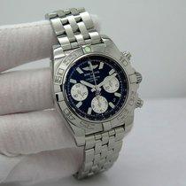 Breitling Chronomat 41 подержанные 41mm Черный Хронограф Дата Сталь