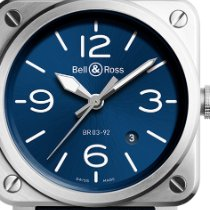 Bell & Ross BR 03-92 Steel Steel 42mm Blue Arabic numerals United States of America, Texas, Houston