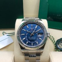 Rolex Sky-Dweller Steel 42mm Blue No numerals United States of America, Illinois, Springfield