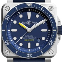 Bell & Ross BR 03-92 Steel Steel 42mm Blue No numerals United States of America, Texas, Houston