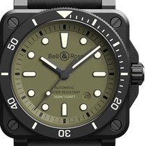 Bell & Ross BR 03 new 2021 Automatic Watch with original box and original papers BR0392-D-KA-CE/SRB