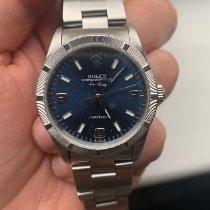 Rolex Air King Precision Steel 34mm Blue No numerals United Kingdom, Potters Bar