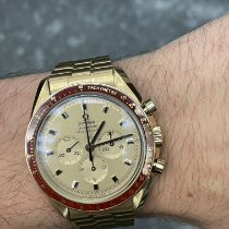 Omega Speedmaster pre-owned 42mm Yellow Yellow gold