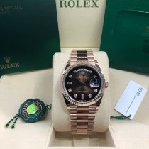 Rolex Day-Date 36 Rose gold 36mm Brown No numerals United States of America, Illinois, Springfield
