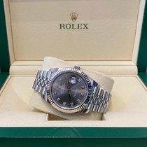 Rolex Datejust Steel 41mm Grey No numerals Singapore, 169588