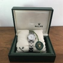 Rolex Oyster Perpetual Lady Date Acero 26mm Blanco Sin cifras España, sant josep