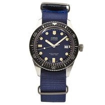 Oris Divers Sixty Five pre-owned 40mm Blue Year