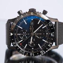 Breitling Chronoliner Stahl 46mm Schwarz