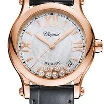 Chopard nové Automatika Centrální sekundová ručka Osazení drahokamy a diamanty 36mm Růžové zlato Safírové sklo