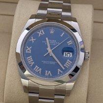 Rolex Datejust Steel 41mm Blue Roman numerals