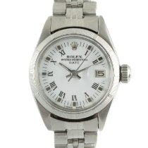 Rolex Oyster Perpetual Lady Date Acero 26mm Blanco
