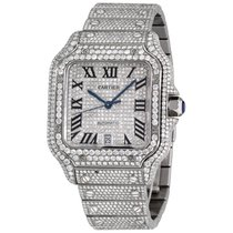 Cartier Santos (submodel) Steel 39.8mm Silver Roman numerals United States of America, New York, NEW YORK CITY