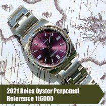 Rolex Oyster Perpetual 36 Steel 36mm Purple Arabic numerals United States of America, Florida, Coral Gables